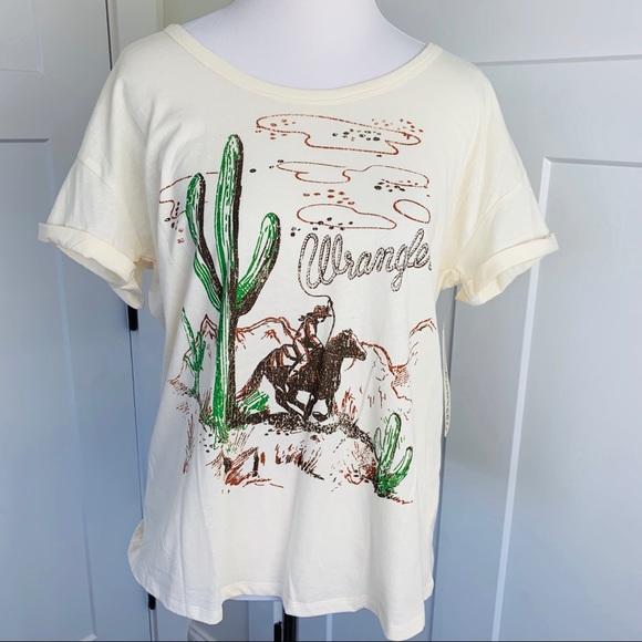 b71a6de2b281 Wrangler Tops | Cowboy Graphic Tshirt | Poshmark